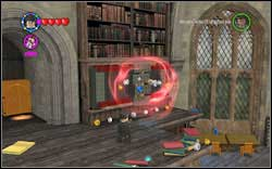 Wizard (red): Jump onto the left terrace (firstly on the yellow book, then on the next ones) and use (DM) on the locked shelf - Bonuses - Hogwarts - Walkthrough - LEGO Harry Potter: Years 1-4 - Game Guide and Walkthrough