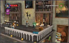 Use magic on the red book under the right terrace and then (WL) - Bonuses - Hogwarts - Walkthrough - LEGO Harry Potter: Years 1-4 - Game Guide and Walkthrough