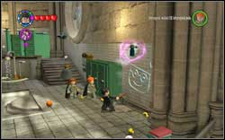 Madam Hooch: Next to the green cabinets you will find a trash bin - take out a spray and paint a graffiti on the wall using it (WL) - Bonuses - Hogwarts - Walkthrough - LEGO Harry Potter: Years 1-4 - Game Guide and Walkthrough