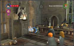 Molly Weasley: Next to the prefects' table, on the left, you will find a food tray - use (RD) on it - Bonuses - Hogwarts - Walkthrough - LEGO Harry Potter: Years 1-4 - Game Guide and Walkthrough