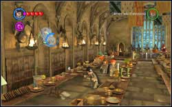 On the left side of the room, there's a student in a spider-web - Bonuses - Hogwarts - Walkthrough - LEGO Harry Potter: Years 1-4 - Game Guide and Walkthrough