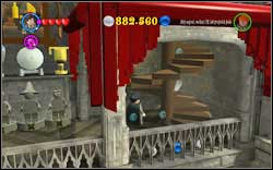 Harry (blue shirt): Right under the staircase leading to the Bathroom Corridor - Bonuses - Hogwarts - Walkthrough - LEGO Harry Potter: Years 1-4 - Game Guide and Walkthrough