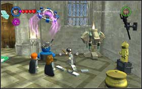 Leave the classroom and head to the Main Hall (M1 - Walkthrough - Year 2 Part 1 - Walkthrough - LEGO Harry Potter: Years 1-4 - Game Guide and Walkthrough