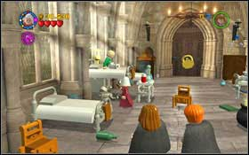 By the bed of one of the patients on the right, you will find a skull - Walkthrough - Year 2 Part 1 - Walkthrough - LEGO Harry Potter: Years 1-4 - Game Guide and Walkthrough