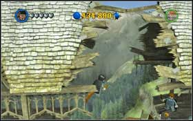 You will the ingredients for the Strengthening Potion in the bushes #1 - aim at shoot a spell at them (hold [H]) - Walkthrough - Year 1 Part 1 - Walkthrough - LEGO Harry Potter: Years 1-4 - Game Guide and Walkthrough