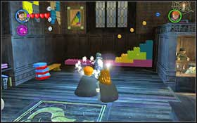 The second brick lies freely on the left side of the room #1 - Walkthrough - Year 1 Part 1 - Walkthrough - LEGO Harry Potter: Years 1-4 - Game Guide and Walkthrough