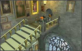 You will get to the Grand Staircase (M2 - Walkthrough - Year 1 Part 1 - Walkthrough - LEGO Harry Potter: Years 1-4 - Game Guide and Walkthrough