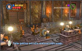 Approach the goblin stationed in the middle of the Gringott's Bank #1 - Walkthrough - Year 1 Part 1 - Walkthrough - LEGO Harry Potter: Years 1-4 - Game Guide and Walkthrough