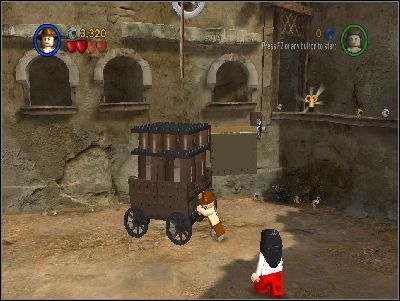 Go to the right and kill your enemies - Chapter 3 - City of Danger - part 1 - Riders of the Lost Ark - LEGO Indiana Jones: The Original Adventures - Game Guide and Walkthrough