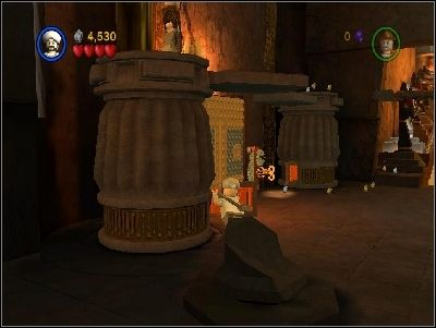 In the room you will notice four this kind of pillars - Chapter 4 � The Well of Souls - part 1 - Riders of the Lost Ark - LEGO Indiana Jones: The Original Adventures - Game Guide and Walkthrough