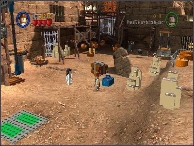 Go back to the place where you have started the level - Chapter 5 - Pursuing the Ark - Riders of the Lost Ark - LEGO Indiana Jones: The Original Adventures - Game Guide and Walkthrough