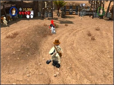 Go to the right and you will reach enemy camp - Chapter 5 - Pursuing the Ark - Riders of the Lost Ark - LEGO Indiana Jones: The Original Adventures - Game Guide and Walkthrough