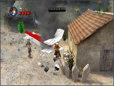 You will be in a village - Chapter 4 - Trouble in the Sky - The Last Crusade - LEGO Indiana Jones: The Original Adventures - Game Guide and Walkthrough