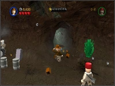 Destroy the bars blocking the way into the cave - Chapter 5 - Desert Ambush - The Last Crusade - LEGO Indiana Jones: The Original Adventures - Game Guide and Walkthrough