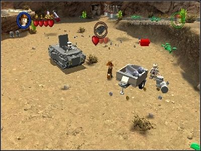 Two more mines are in the carts nearby - Chapter 5 - Desert Ambush - The Last Crusade - LEGO Indiana Jones: The Original Adventures - Game Guide and Walkthrough