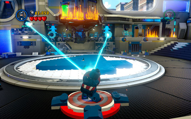 Build a platform for Captain America from the debris and use it - Times Square Off - Walkthrough - LEGO Marvel Super Heroes - Game Guide and Walkthrough