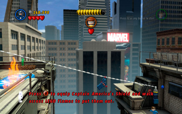 Go to the right edge of the building and glide over the gap as Mr - Times Square Off - Walkthrough - LEGO Marvel Super Heroes - Game Guide and Walkthrough