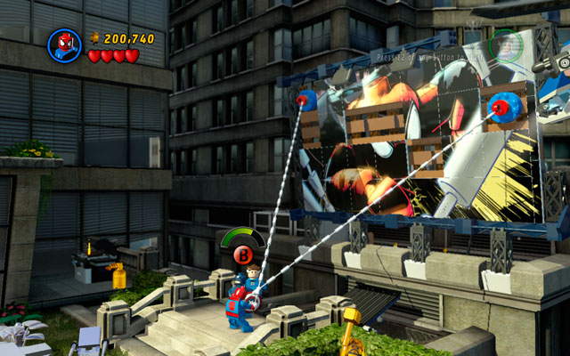 Defeat all opponents and go to the right side of the location - Times Square Off - Walkthrough - LEGO Marvel Super Heroes - Game Guide and Walkthrough