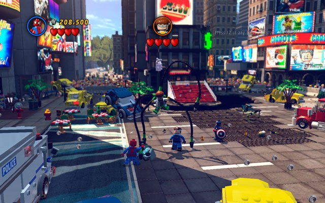 The final battle with Doctor Octopus is quite demanding - Times Square Off - Walkthrough - LEGO Marvel Super Heroes - Game Guide and Walkthrough