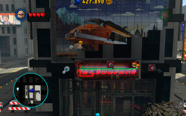 Turn right and go round the hole - Times Square / Oscorp - Walkthrough - LEGO Marvel Super Heroes - Game Guide and Walkthrough
