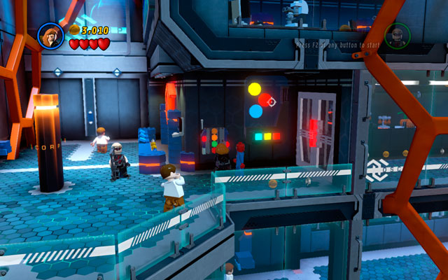 In Oscorp Laboratory choose Black Widow and approach to the computer on the right - Exploratory Laboratory - Walkthrough - LEGO Marvel Super Heroes - Game Guide and Walkthrough