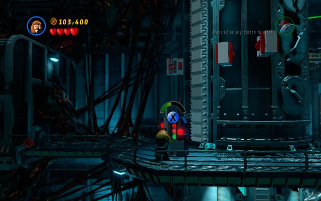 Climb to the upper floor and fight the enemies, killing as much as you can (studs are very useful - Exploratory Laboratory - Walkthrough - LEGO Marvel Super Heroes - Game Guide and Walkthrough