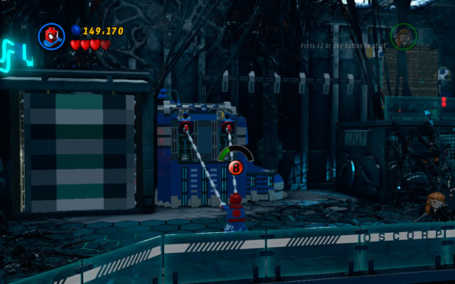 In a new location head to the right so you can approach to the huge boxes - Exploratory Laboratory - Walkthrough - LEGO Marvel Super Heroes - Game Guide and Walkthrough