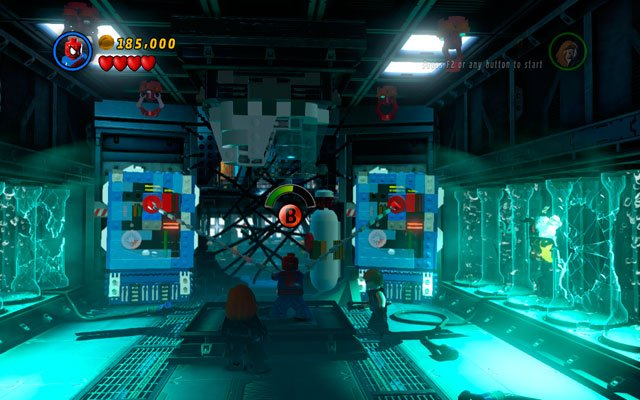 Move forward and wait for a cut-scene - Exploratory Laboratory - Walkthrough - LEGO Marvel Super Heroes - Game Guide and Walkthrough