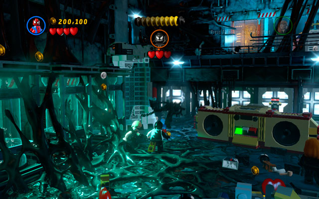 Duel with Venom is quite tough - Exploratory Laboratory - Walkthrough - LEGO Marvel Super Heroes - Game Guide and Walkthrough