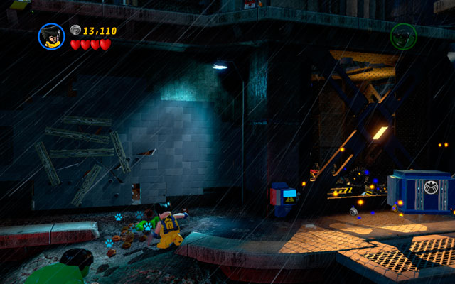 When the whole party is standing on the main island, choose Wolverine and dig up some bricks from the sand pile - Rock Up at the Lock Up - Walkthrough - LEGO Marvel Super Heroes - Game Guide and Walkthrough