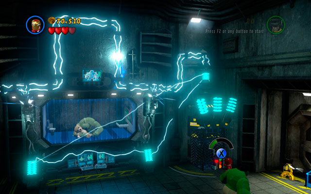 Defeat all opponents and head to the right - under the wall you will find some objects, that should be destroyed - Rock Up at the Lock Up - Walkthrough - LEGO Marvel Super Heroes - Game Guide and Walkthrough