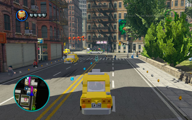 After Rock Up at Lock Up mission head to the Stark Tower to put on your armor - New York - Walkthrough - LEGO Marvel Super Heroes - Game Guide and Walkthrough