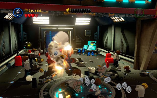Enter to the new location and defeat all enemies - Rebooted, Resuited - Walkthrough - LEGO Marvel Super Heroes - Game Guide and Walkthrough