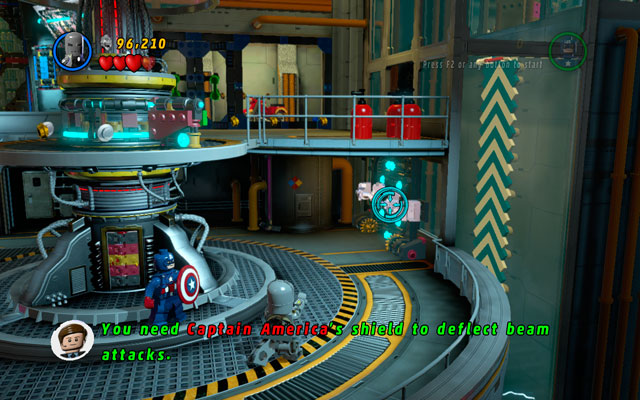 Head to the right, looking for the second ventilator - Rebooted, Resuited - Walkthrough - LEGO Marvel Super Heroes - Game Guide and Walkthrough