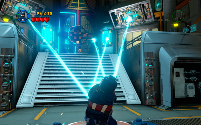 In this moment two laser beams will be turned on - Rebooted, Resuited - Walkthrough - LEGO Marvel Super Heroes - Game Guide and Walkthrough