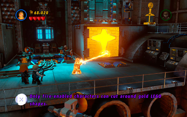 In a new stage you will be supported by Human Torch - Red Head Detention - Walkthrough - LEGO Marvel Super Heroes - Game Guide and Walkthrough