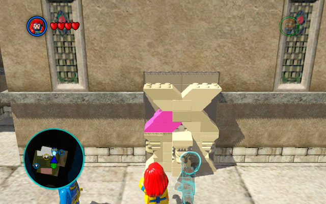 Turn right and approach to the violet bricks - X-Mansion - Walkthrough - LEGO Marvel Super Heroes - Game Guide and Walkthrough