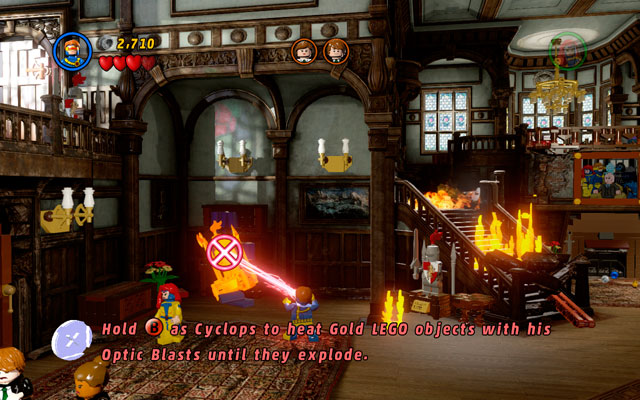 The main goal of this mission is to rescue all students terrorized by Magneto's thugs - Juggernauts and Crosses - Walkthrough - LEGO Marvel Super Heroes - Game Guide and Walkthrough