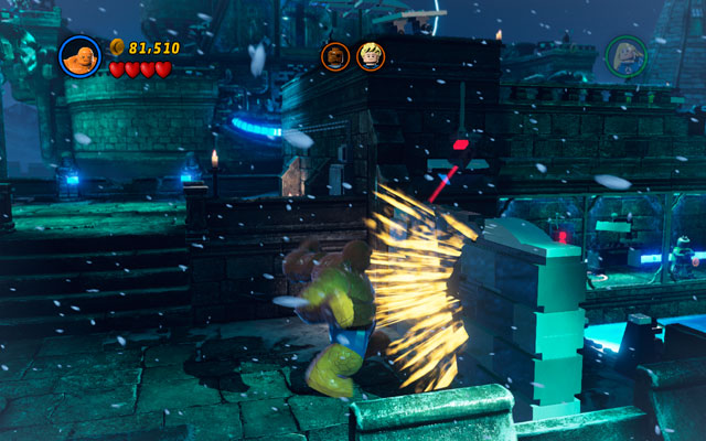 Defeat all opponents, then switch into the Thing and collapse the wall on the right - Doctor in the House - Walkthrough - LEGO Marvel Super Heroes - Game Guide and Walkthrough
