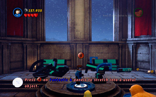 In the final round defeat all minions (as always), then approach to the shattered stained-glass window lying at the end of the arena - Doctor in the House - Walkthrough - LEGO Marvel Super Heroes - Game Guide and Walkthrough