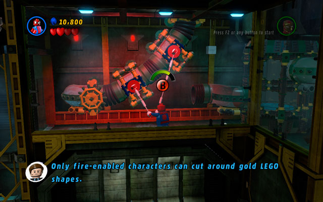 When it is done, approach to the golden wall and slice it with your fire beam - in this way you will create a proper passage to the next room - That Sinking Feeling - Walkthrough - LEGO Marvel Super Heroes - Game Guide and Walkthrough