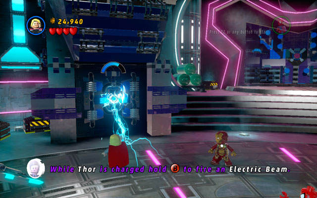 Turn left and look for the another silver wall - Magnetic Personality - Walkthrough - LEGO Marvel Super Heroes - Game Guide and Walkthrough