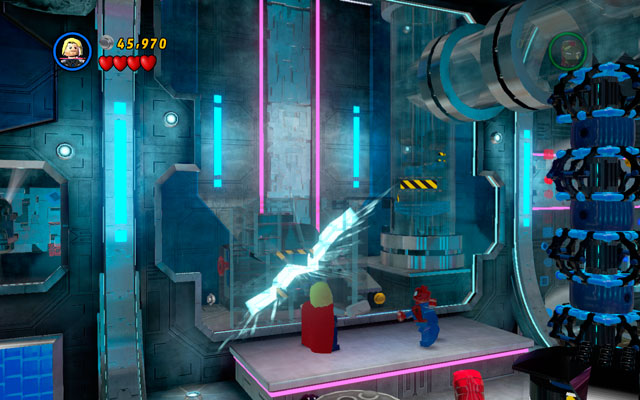 Kill all minions, then jump to the platform located above - Magnetic Personality - Walkthrough - LEGO Marvel Super Heroes - Game Guide and Walkthrough