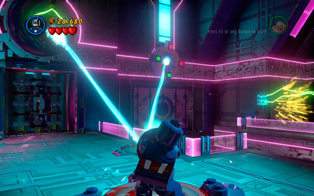 Defeat next group of enemies, then switch into the Thing and yank two green handles placed on the wall - A Doom With a View - Walkthrough - LEGO Marvel Super Heroes - Game Guide and Walkthrough