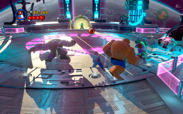 In this moment your fight will become very schematic - A Doom With a View - Walkthrough - LEGO Marvel Super Heroes - Game Guide and Walkthrough