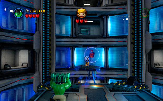 Second sequence is quite similar - defeat all minions, then build another missile, throwing it at the target - Sabertooth - Boss fights - LEGO Marvel Super Heroes - Game Guide and Walkthrough