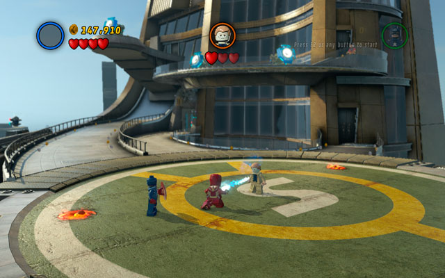The struggle is very schematic - defeat all minions first, then wait for Mandarin to take control over your character - Mandarin & Aldrich Killian - Boss fights - LEGO Marvel Super Heroes - Game Guide and Walkthrough