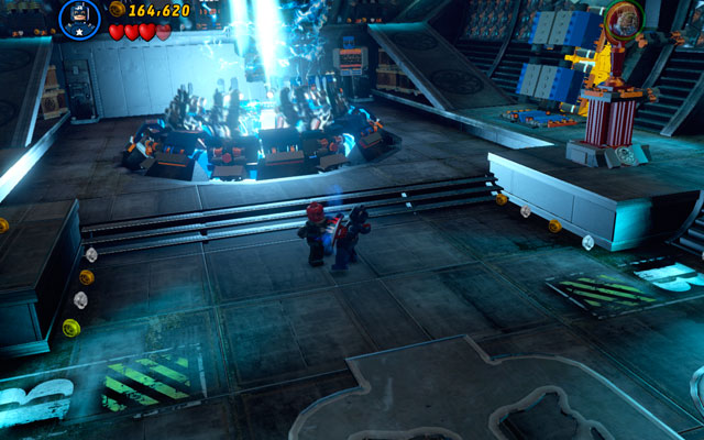 During the fight with red Skull you will control two characters: Human Torch and Captain America - Red Skull - Boss fights - LEGO Marvel Super Heroes - Game Guide and Walkthrough
