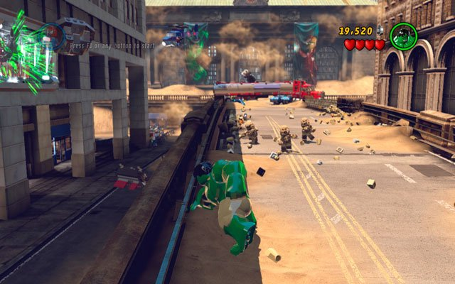 Use Hulk superstrength to pull out a stone from the ground (hold an interaction button to do that) - Sand Central Station - Minikit Sets - LEGO Marvel Super Heroes - Game Guide and Walkthrough