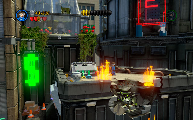 Third can be found vis-a-vis to the HOTEL neon, in the greenhouse - Times Square Off - Minikit Sets - LEGO Marvel Super Heroes - Game Guide and Walkthrough